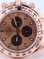 นาฬิกา Rolex Cosmograph Daytona สี Rose Gold หน้าปัด Rose Gold สายเลส รุ่นดังที่สุด ดาราคาใส่