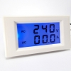 AC 2-in-1 Voltmeter/Ammeter 200-450V 0-50A LCD with Backlight Display [White Cover]