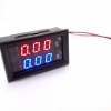 DC Volt/Ammeter Dual Display 0-100V 20A Built-in Shunt [Red-Blue]