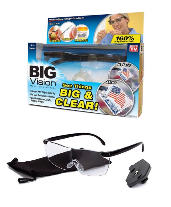 BIG VISION Glasses แว่นตาขยายไร้มือจับ กำลังขยาย 160% คุณภาพดี ภาพ ...