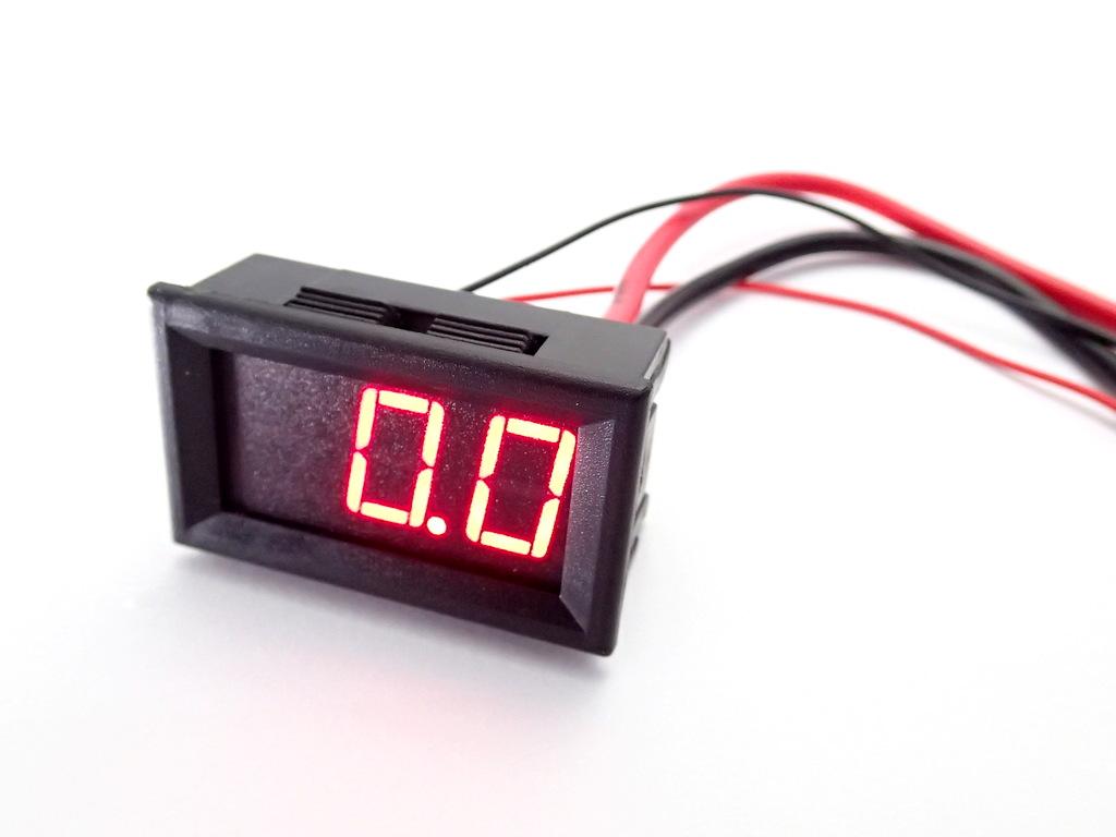 "DC ดิจิตอลแอมมิเตอร์ 0-20A Built-in Shunt 0.56"" [Red]"