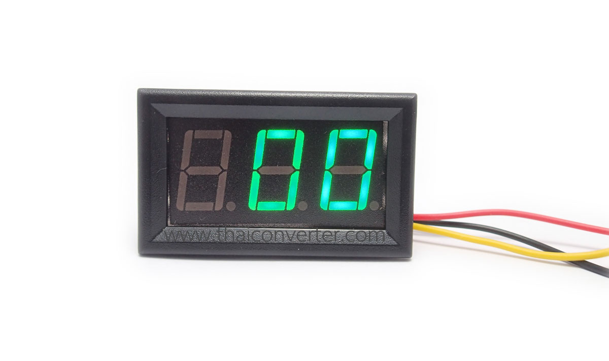 "DC Digital Voltmeter 0-600V 3-wire 0.56"" [Green]"