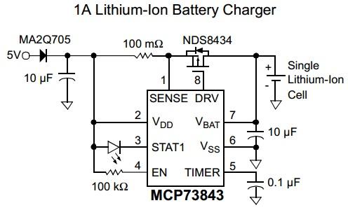 วงจรชาร์ตแบต lithium ion